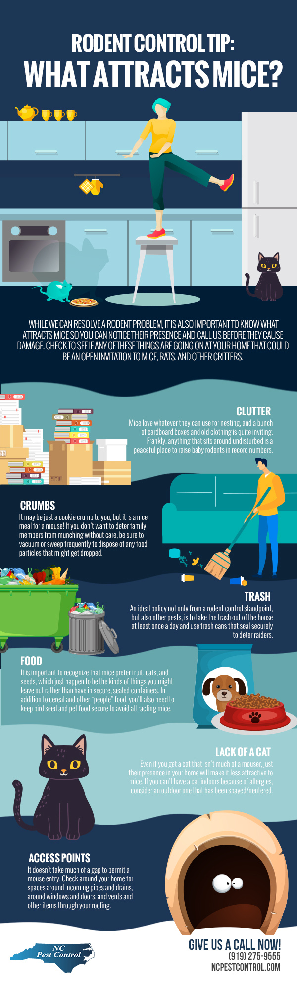 Rodent Control Tip: What Attracts Mice? [infographic]